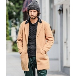 【CAMBIO(カンビオ)】Sliver Knit Chester Field Coat コート
