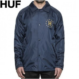 HUF Recruit Coach Jacket Navy S コーチジャケット
