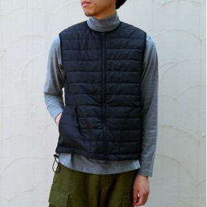 MASTER&Co.(マスターアンドコー)/ THINSULATE VEST S/S INNER DOWN -(99)BLACK-