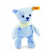 Steiff 238161 シュタイフ ぬいぐるみ テディベア 14cm Little Circus Teddy Bear Rattle for Newborn (Light Blue)