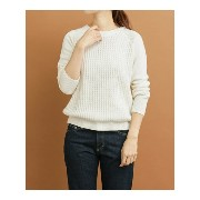 【SALE/50%OFF】DOORS FORK&SPOON CW Crewneck Knit アーバンリサーチドアーズ ニット【RBA_S】【RBA_E】【送料無料】