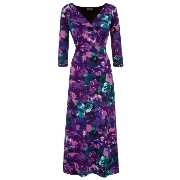 グレース レディース トップス ワンピース【Grace Grace Made in Britain print maxi dress】Purple