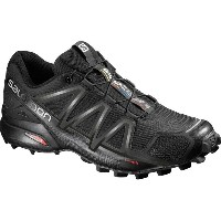 サロモン Salomon メンズ ランニング シューズ・靴【Speedcross 4 Trail Running Shoe】Black/Black/Black Metallic