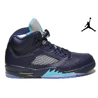 NIKE AIR JORDAN 5 RETRO 「HORNETS」 136027-405 MIDNIGHT NAVY/TURQUOISE BLUE-WHITEナイキ エアジョーダン 5 レトロ...