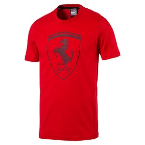 プーマ Ferrari Big Shield Tee メンズ Rosso Corsa