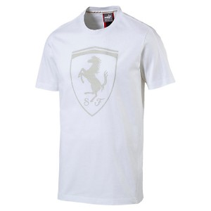 プーマ Ferrari Big Shield Tee メンズ Puma White