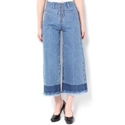 ZIP WIDE CROPPED DENIM【エモダ/EMODA デニム】