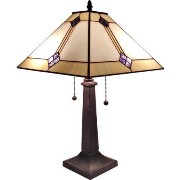 Amora Lighting AM098TL13 Tiffany Style Mission Design Table Lamp 21 In by Amora Lighting