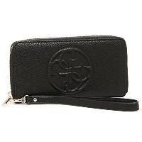 (ゲス) GUESS ゲス 財布 GUESS VG653860 BLA KORRY CRUSH SLG ZIP ARND WALLT 財布 BLACK [並行輸入品]
