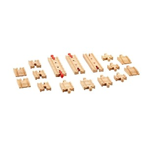 Fisher Price DFX00 Thomas & Friends Wooden Railway Sure-Fit Track Pack Train Set [並行輸入品]