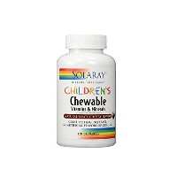 海外直送品 Solaray - Childrens Multi Chew Cherry, 120 chewable tablets