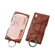 Deff ディーフ Baseball Gloves Leather Case for Xperia X Performance (ブラウン)