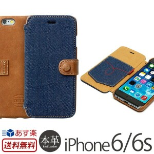 iPhone6s / iPhone6 手帳型 デニム 本革 レザー ケース ZENUS Denim Vintage Pocket Diary iPhone6s iPhoneケース アイフォン6...