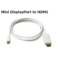 送料無料 Apple/Surface Pro用 Mini Displayport/Thunderbolt to HDMI 変換ケーブル 1.8m Mini DP-HDMI 1080P 音声対応