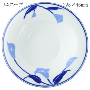 CANION WITS ブルーリリー 9524 BLUE LILY 【リムスープ】【あす楽対応】 業務用 新生活 カフェ ランチ ディナー レストラン シンプル スタイリッシュ 上品 洋食器...