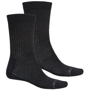 テラマール メンズ インナー ソックス【Terramar Everyday Merino Crew Socks - 2-Pack, Merino Wool 】Black