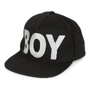 ボーイロンドン boy london メンズ 帽子 キャップ【metallic boy snapback cap】Black/silver