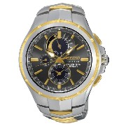 セイコー Seiko Coutura Solar Perpetual Chronograph Two Tone Mens Watch SSC376 [並行輸入品]