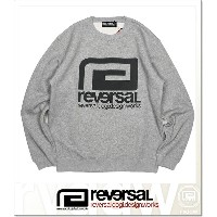 REVERSAL BIG MARK CREW SWEAT (CREW)(rvbs007-GR)