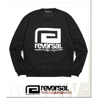 REVERSAL BIG MARK CREW SWEAT (CREW)(rvbs007-BK)