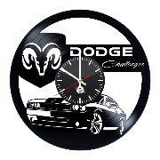 Dodge Handmade Vinyl Record Wall Clock Vintage