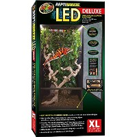 Zoo Med ReptiBreeze LED Lights Deluxe Black Screen Cage Habitat 24X24X48 X-Large
