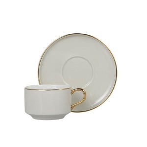 DULTON(ダルトン) カップ&ソーサー ヌメロ1 CUP&SAUCER Numelo 1 IVORY G515-540IV