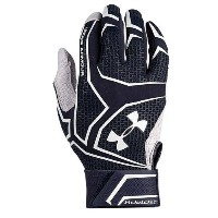 アンダーアーマー メンズ 野球 グローブ 手袋【Under Armour Yard Clutchfit Batting Gloves】Midnight Navy/Midnight Navy/White