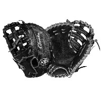 ルイスビルスラッガー メンズ 野球 グローブ 手袋【Louisville Slugger Omaha Single Post Web First Base Mitt】Black/Silver