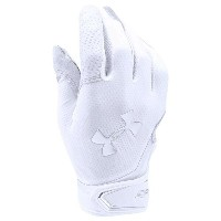 アンダーアーマー メンズ 野球 グローブ 手袋【Under Armour Spotlight Batting Gloves】White/Metallic Silver