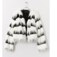 Sonny Label MINKPINK Crop Fur Coat【アーバンリサーチ/URBAN RESEARCH ノーカラーコート】