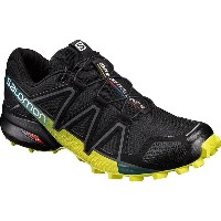 サロモン Salomon メンズ ランニング シューズ・靴【Speedcross 4 Trail Running Shoe】Black/Everglade/Sulphur Spring