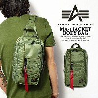 (アルファインダストリーズ)ALPHA INDUSTRIES MA-1 JACKET BODY BAG KHAKI ONE