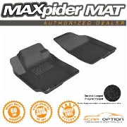 Hyundai Elantra フロアマット Fits: 3D Maxpider 07-10 Hyundai Elantra Sedan Black Floor Mat Classic Carpet...