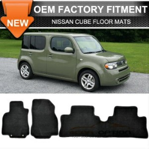 Nissan Cube フロアマット Limited Time Sale Fit 09-14 Nissan Cube Floor Mats Carpet Front Rear Nylon...