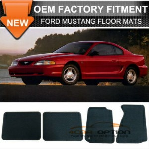 Ford Mustang フロアマット For 94-98 Ford Mustang 2Dr Floor Mats Carpet Front & Rear Nylon Black 4PC 94...