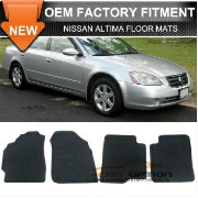 Nissan Altima フロアマット Fit 02-06 Nissan Altima 4Dr Floor Mats Carpet Front & Rear Nylon Black 4PC...