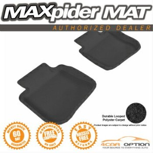 Subaru Legacy フロアマット Fit 3D Maxpider 10-14 Legacy Outback 2Pcs Black Classic Floor Mat R2 2Nd Row...
