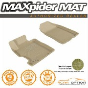 Honda Civic フロアマット 3D Maxpider 06-11 Honda Civic Coupe Sedan L4 2Pcs Tan Classic Floor Mat R1 Row...