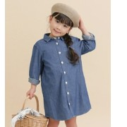 DOORS FORK&SPOON Chambray SHIRTS Dress(KIDS)【アーバンリサーチ/URBAN RESEARCH ワンピース】