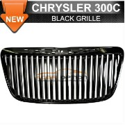 Chrysler 300C グリル 11-12 Chrysler 300C Vertical Front Grille Black Replacement Grill 11月12日クライスラー300C...