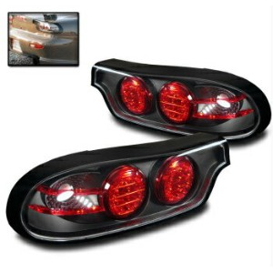 マツダ RX-7 テールライト MAZDA 1993-2001 RX-7 RX7 FD3S 13B BLACK LED TAIL BRAKE LIGHTS REAR LAMP PAIR NEW...