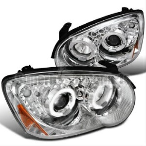 スバル インプレッサ ヘッドライト 2004-2005 Subaru Impreza WRX Halo LED Clear Projector Headlights Chrome 2004...