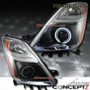 トヨタ プリウス ヘッドライト 2004-2009 TOYOTA PRIUS CCFL ANGEL EYE PROJECTOR HEADLIGHTS BLACK HOUSING 2004-2009...