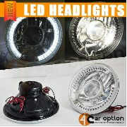 Volkswagen Beetle ヘッドライト Fits Volkswagen Beetle 7 Inch Clear Round LED Projector Headlights Head...