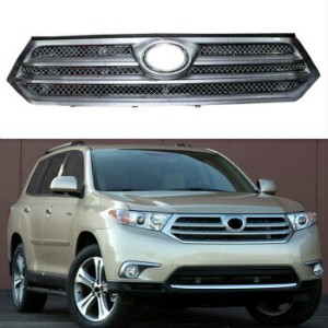 トヨタ Highlander グリル 5pcs Stainless Mesh Trim Auto Front Grille Refit For Toyota Highlander 2011-2013...