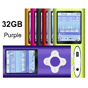 G。G。Martinsenパープルmp3 / mp4 32 GB Mini USBポートスリムSmall multi-lingual Selection 1.78 LCDポータブルmp3プレイヤー...