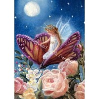 【DM便対応】Heaven And Earth Designs(HAED)クロスステッチ Fairy On Butterfly チャート Michele Sayetta 刺しゅう 図案 アメリカ...