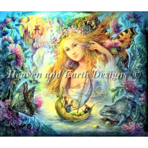 【DM便対応】Heaven And Earth Designs(HAED)クロスステッチ Water Faery チャート Nadia Strelkina 刺しゅう アメリカ 図案 妖精 フェアリー...