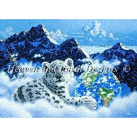【DM便対応】Heaven And Earth Designs(HAED)クロスステッチ Bed of Clouds チャート Schim Schimmel 刺しゅう アメリカ 図案 ライオン 地球...